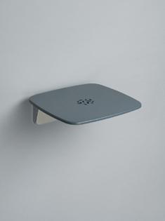 coram promed serie 300 duschklappsitz flach grau chrom inkl befe. Black Bedroom Furniture Sets. Home Design Ideas