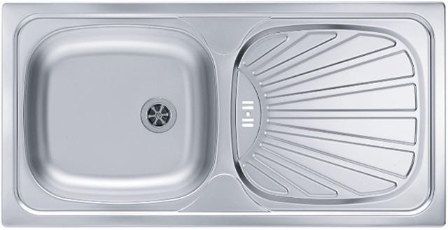 alveus basic 80 sp lbecken edelstahl gr e 860 x 430mm 1037508. Black Bedroom Furniture Sets. Home Design Ideas