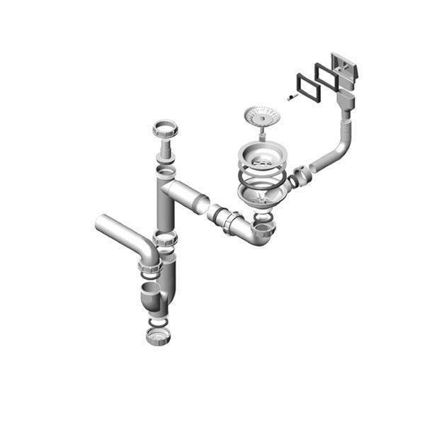 ablaufgarnitur berlauf sifon alveus 1xsp 114 pp 1011645. Black Bedroom Furniture Sets. Home Design Ideas