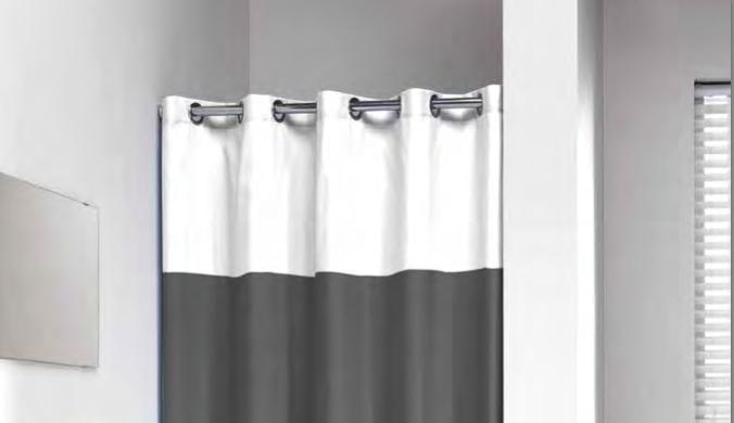 teleskop stange f r duschvorhang wei 20mm gr e 155x255 cm. Black Bedroom Furniture Sets. Home Design Ideas