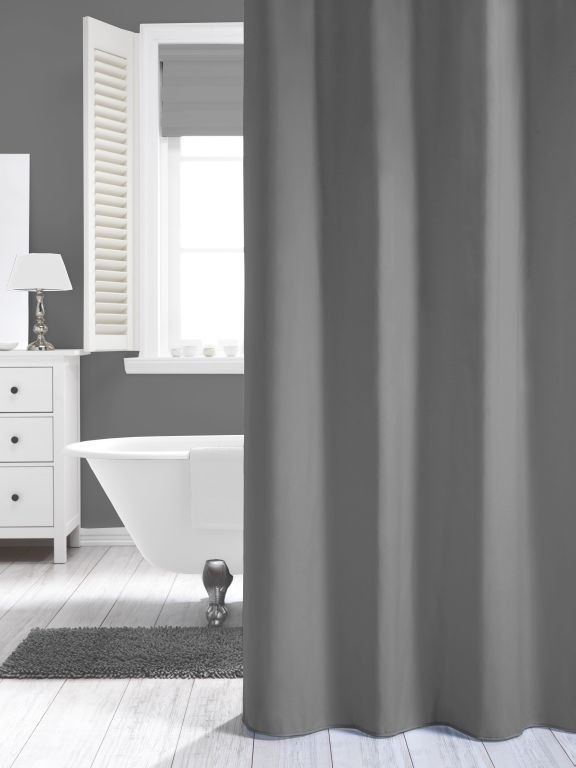 madeira grau duschvorhang textil duvo gr e 180x200 cm waschbar. Black Bedroom Furniture Sets. Home Design Ideas