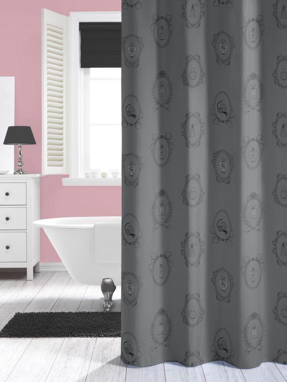 New Romance Grau Duschvorhang Textil Duvo Grosse 180x200 Cm Waschb
