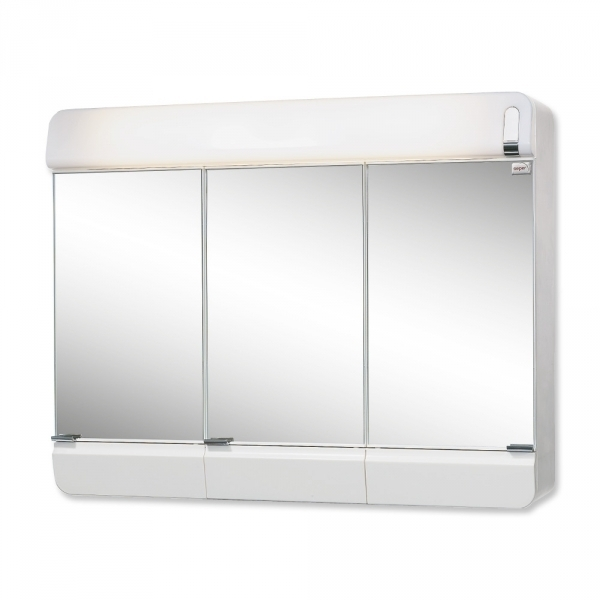 sieper alida wei spiegelschrank aus kunststoff ma e b h t 68 5. Black Bedroom Furniture Sets. Home Design Ideas