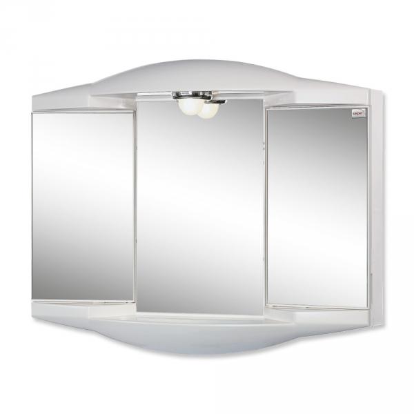 sieper chico gl wei spiegelschrank aus kunststoff ma e b h t. Black Bedroom Furniture Sets. Home Design Ideas