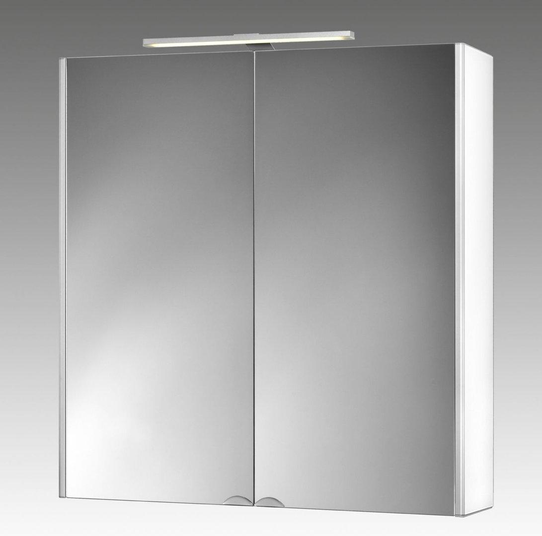Jokey Dekoralu LED Blende Weiß Spiegelschrank Material Aluminium