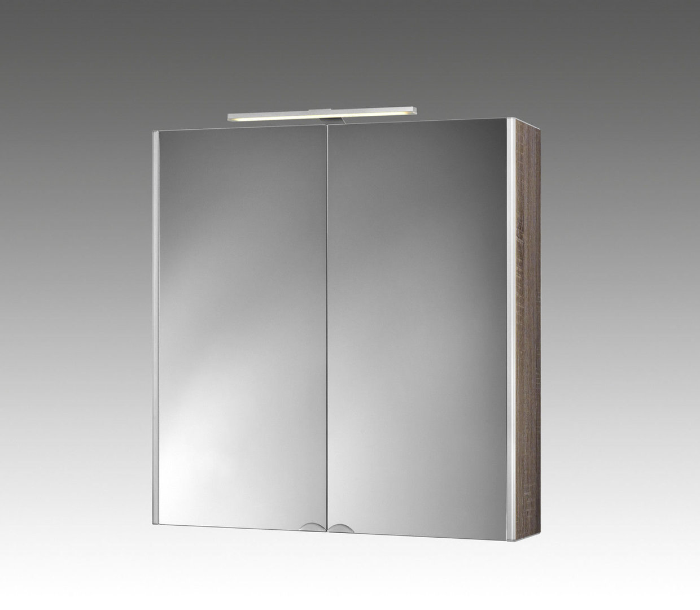 jokey dekoralu led blende eiche spiegelschrank material aluminium. Black Bedroom Furniture Sets. Home Design Ideas