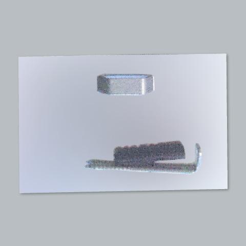 klebeblech f r spiegel bis 2 0kg mit einseitiger klebefl che. Black Bedroom Furniture Sets. Home Design Ideas