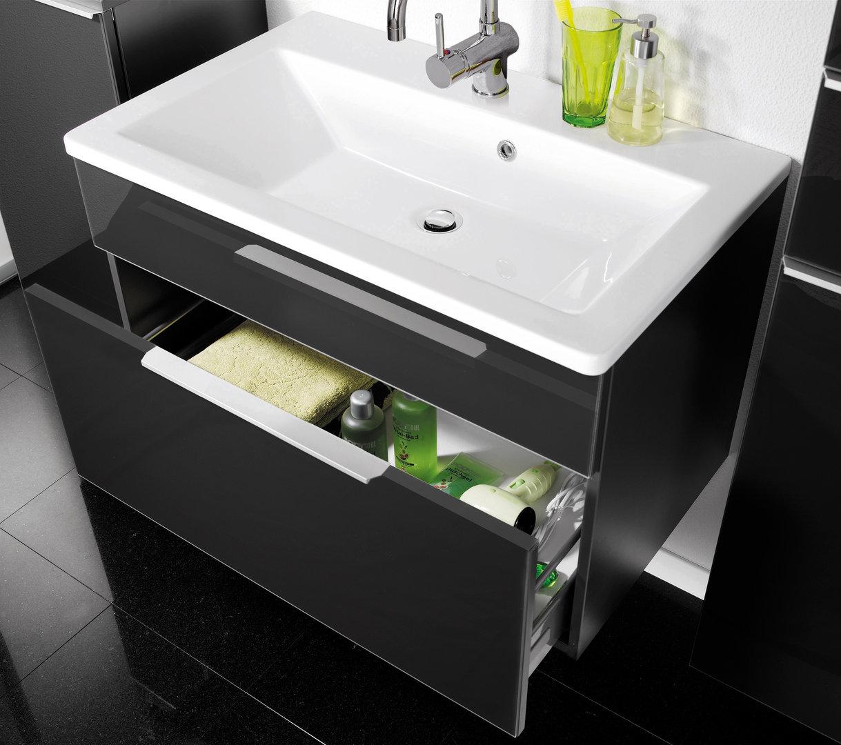 fackelmann domino waschtisch aus gussmarmor farbe wei 80 cm. Black Bedroom Furniture Sets. Home Design Ideas