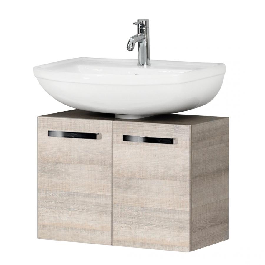 fackelmann a vero waschtischunterschrank mit 2 t ren graueiche. Black Bedroom Furniture Sets. Home Design Ideas