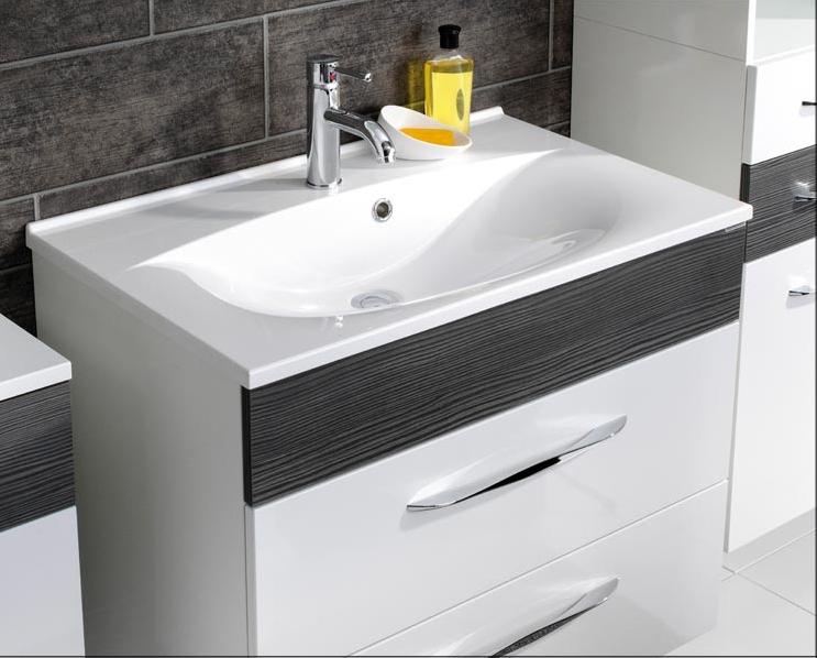fackelmann capri waschtisch aus gussmarmor farbe wei 80. Black Bedroom Furniture Sets. Home Design Ideas