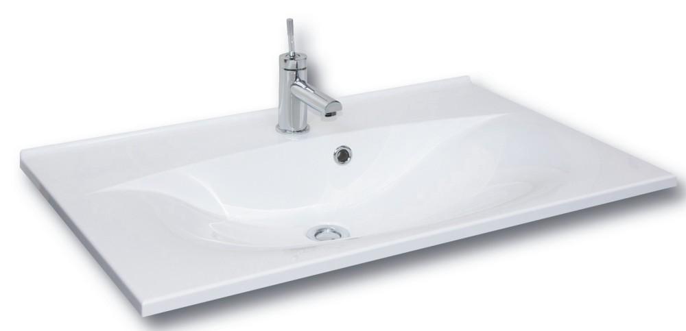 Fantastisch Fackelmann Capri Waschtisch aus Gussmarmor Farbe Weiß 80 cm Breit LI47