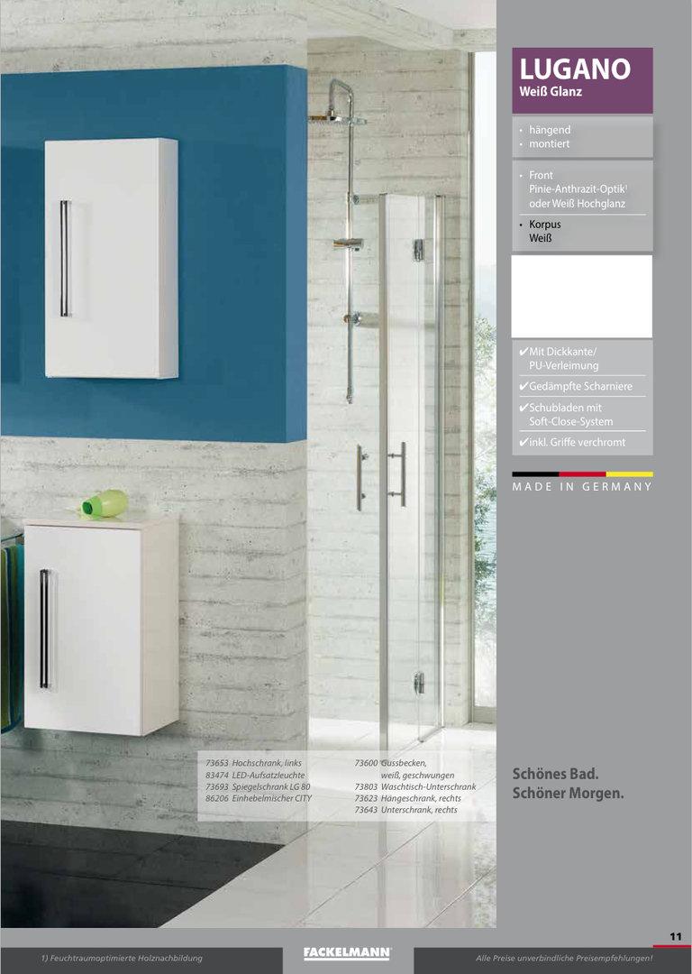 fackelmann lugano waschtisch unterbau rechts breite 35 cm. Black Bedroom Furniture Sets. Home Design Ideas