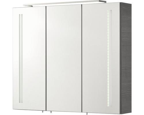 fackelmann spiegelschrank lg 80 breite 80 cm farbe korpus pinie a. Black Bedroom Furniture Sets. Home Design Ideas