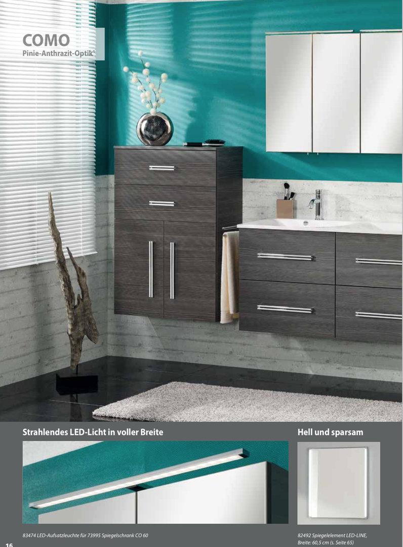 fackelmann como waschtisch unterbau breite 80 cm farbe pinie anth. Black Bedroom Furniture Sets. Home Design Ideas