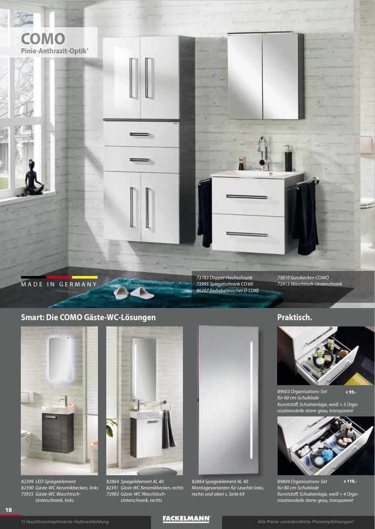 fackelmann como waschtisch unterbau breite 60 cm farbe pinie anth. Black Bedroom Furniture Sets. Home Design Ideas