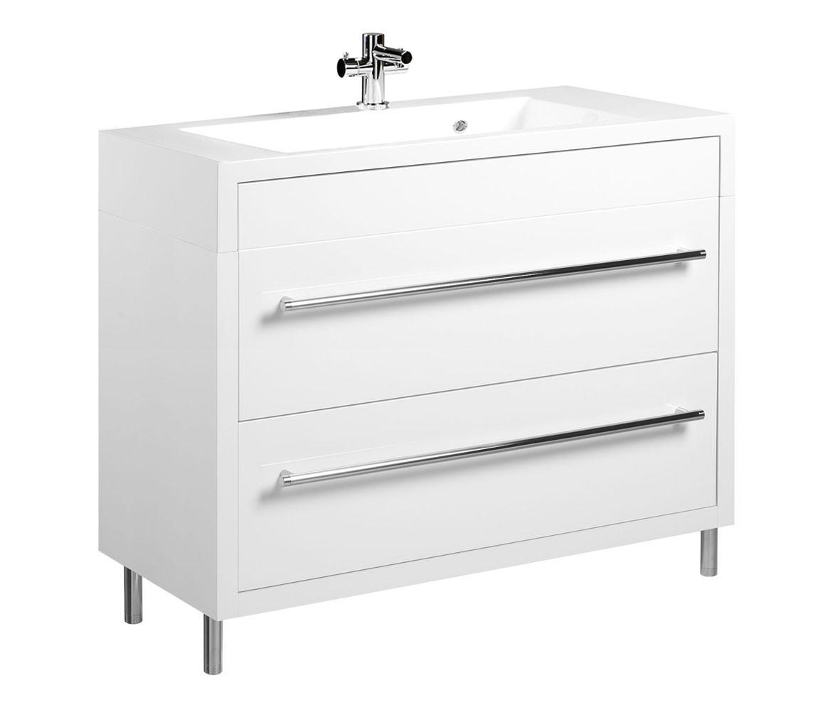 tiger serie boston waschtisch unterschrank wei mit schubladen br. Black Bedroom Furniture Sets. Home Design Ideas