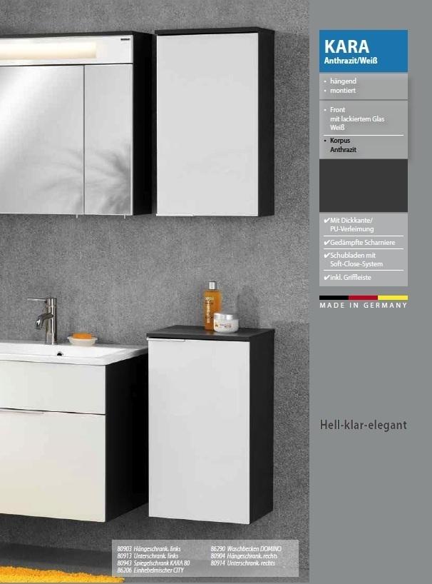 fackelmann kara h ngeschrank rechts 1 t r breite 41 cm farbe anth. Black Bedroom Furniture Sets. Home Design Ideas