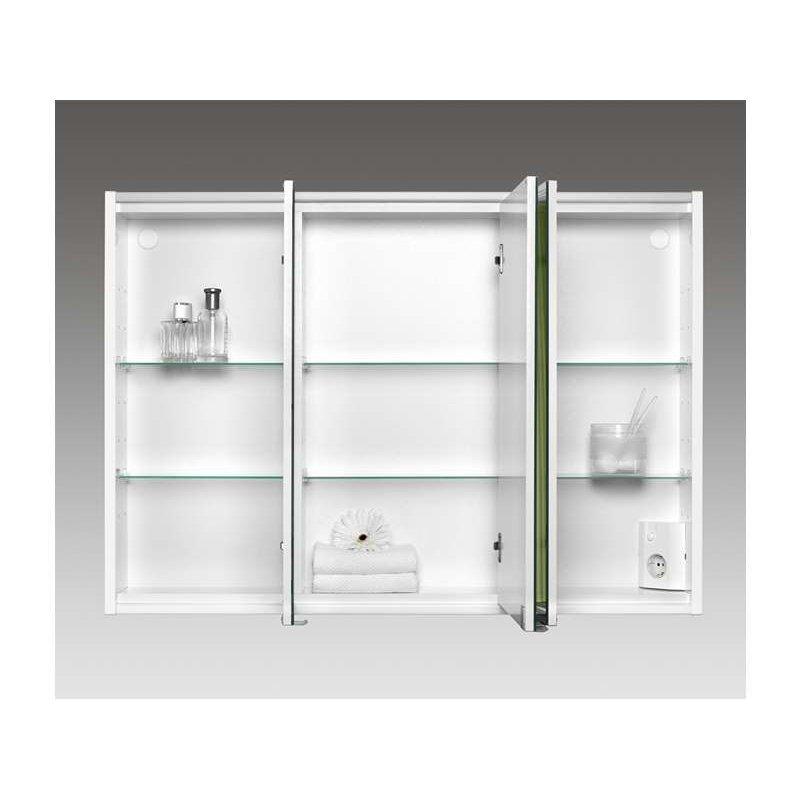 jokey batu korpus wei silber spiegelschrank mdf holz ma e b h t. Black Bedroom Furniture Sets. Home Design Ideas