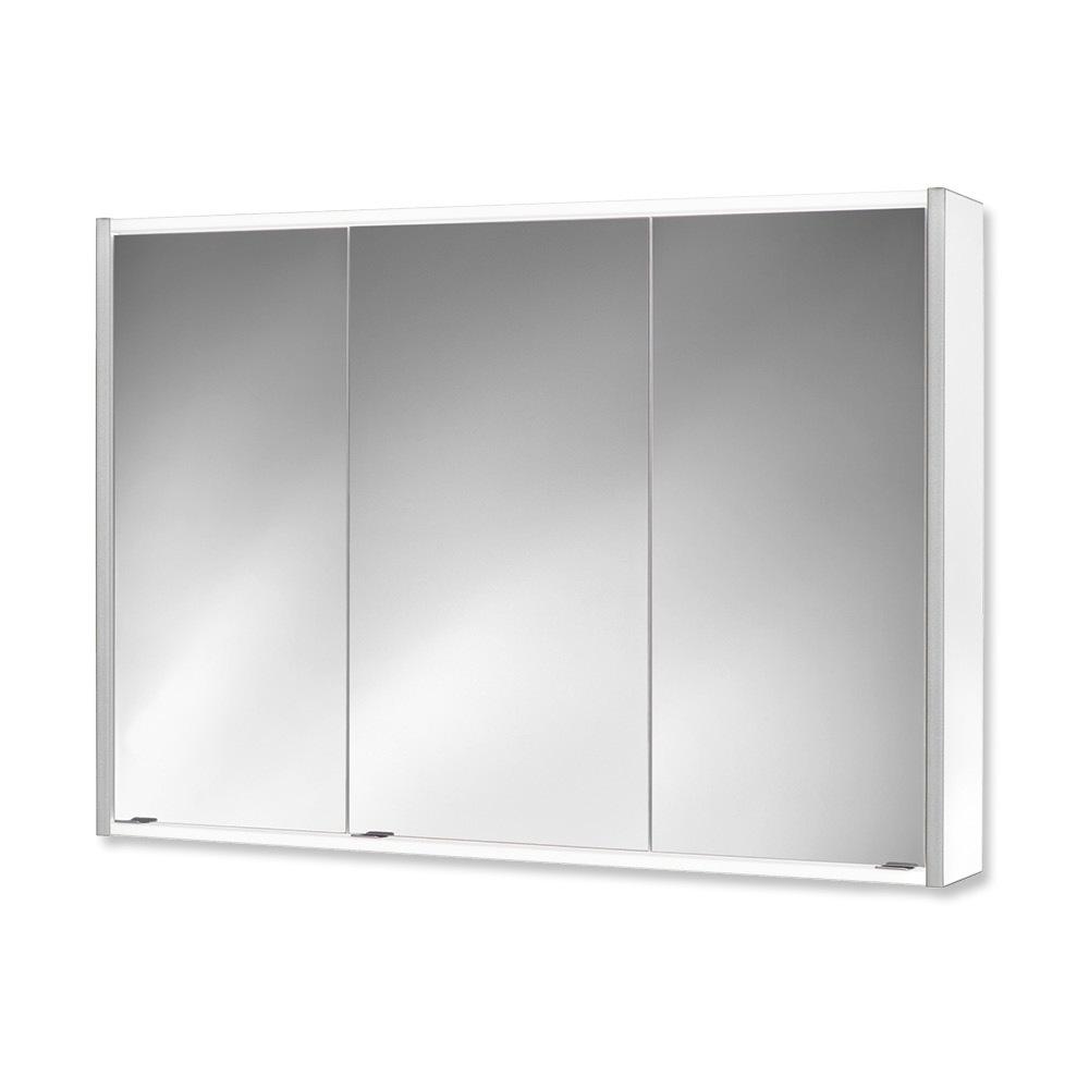 Jokey Batu Korpus Weiß/Silber Spiegelschrank MDF/Holz Maße (B/H/T