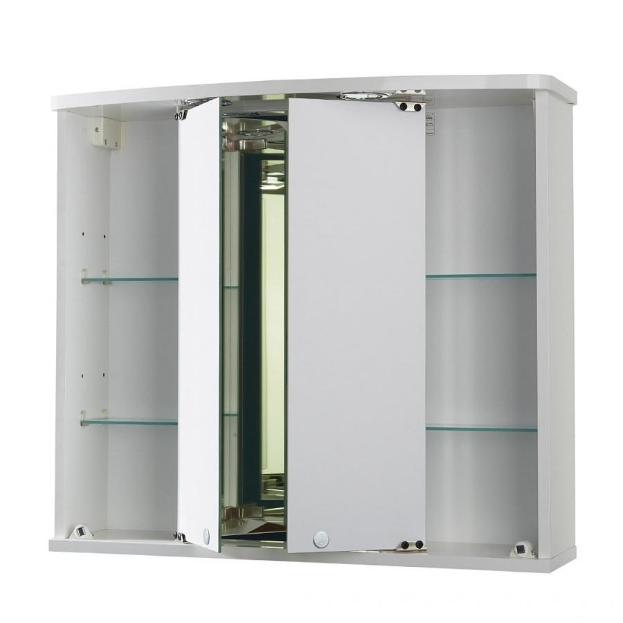 Jokey Funa LED Farbe Weiß Spiegelschrank MDF/Holz Maße (B/H/T) 68