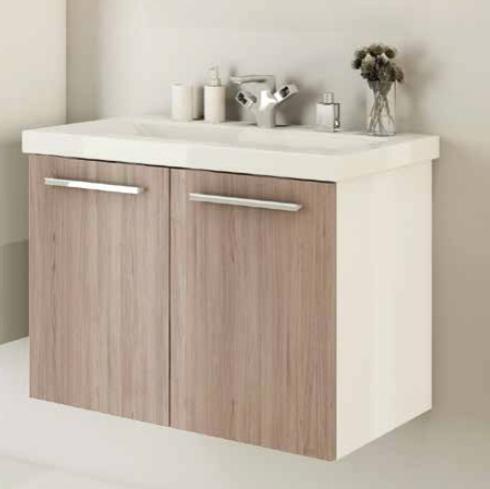 sieper acura waschtisch mit unterschrank farbe wei eiche ma e. Black Bedroom Furniture Sets. Home Design Ideas