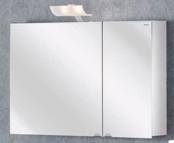 Lanzet Spiegelschrank L2 Leuchte 2 Türen Korpus Farbe Weiß 90x60