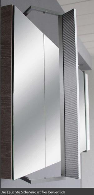 Lanzet spiegelschrank leuchte sidewing 2 t ren korpus for Spiegel 90x60