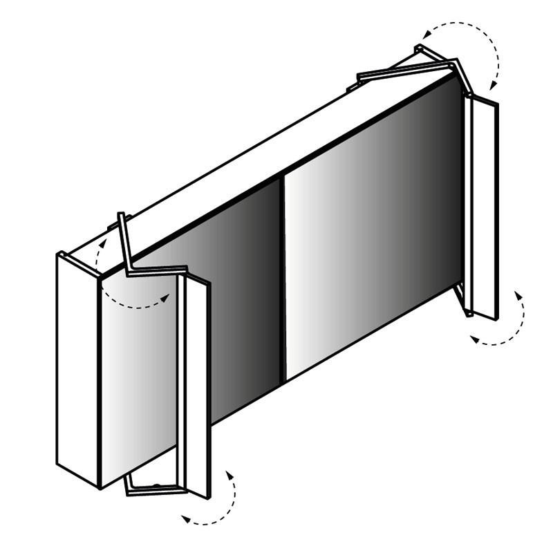 lanzet spiegelschrank leuchte sidewing 2 t ren korpus farbe pinie. Black Bedroom Furniture Sets. Home Design Ideas