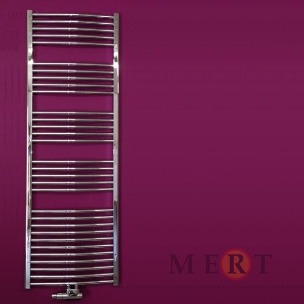 badheizk rper mittelanschluss gebogen farbe chrom 600 x 1750 mm. Black Bedroom Furniture Sets. Home Design Ideas