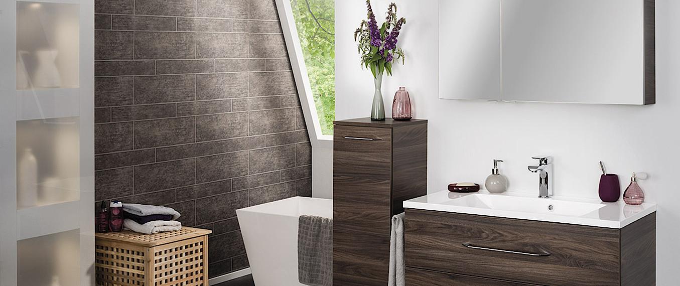 fackelmann waschtisch mit unterschrank 60 cm ulme madera. Black Bedroom Furniture Sets. Home Design Ideas