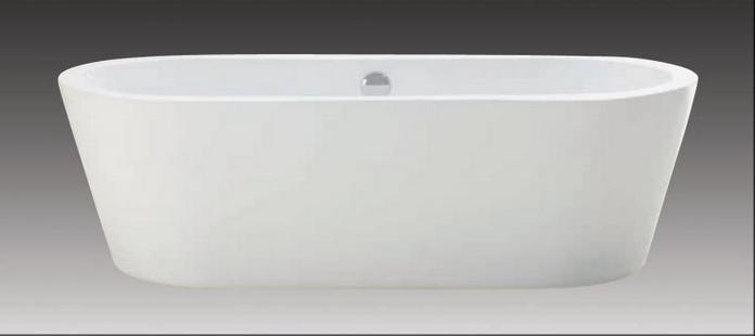 Schröder Wannentechnik Spree Freistehende Badewanne Acryl 180x80x