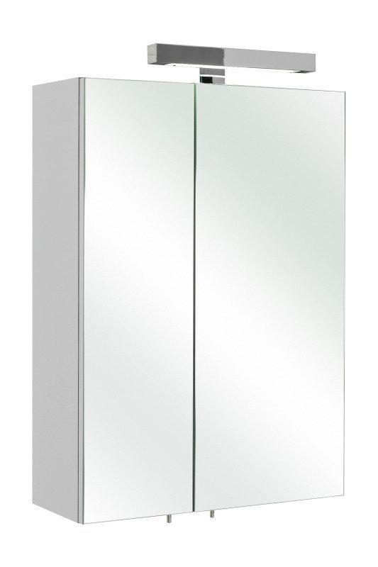 Pelipal Spiegelschrank Rio mit LED Beleuchtung weiß glanz 50x70 c