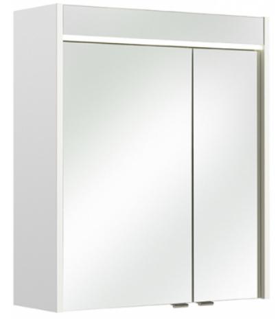 pelipal spiegelschrank treviso mit led beleuchtung wei 60x70 cm. Black Bedroom Furniture Sets. Home Design Ideas