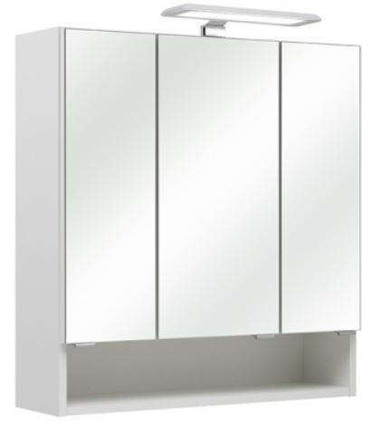 pelipal spiegelschrank sarah mit aufsatz beleuchtung wei 65x70 c. Black Bedroom Furniture Sets. Home Design Ideas