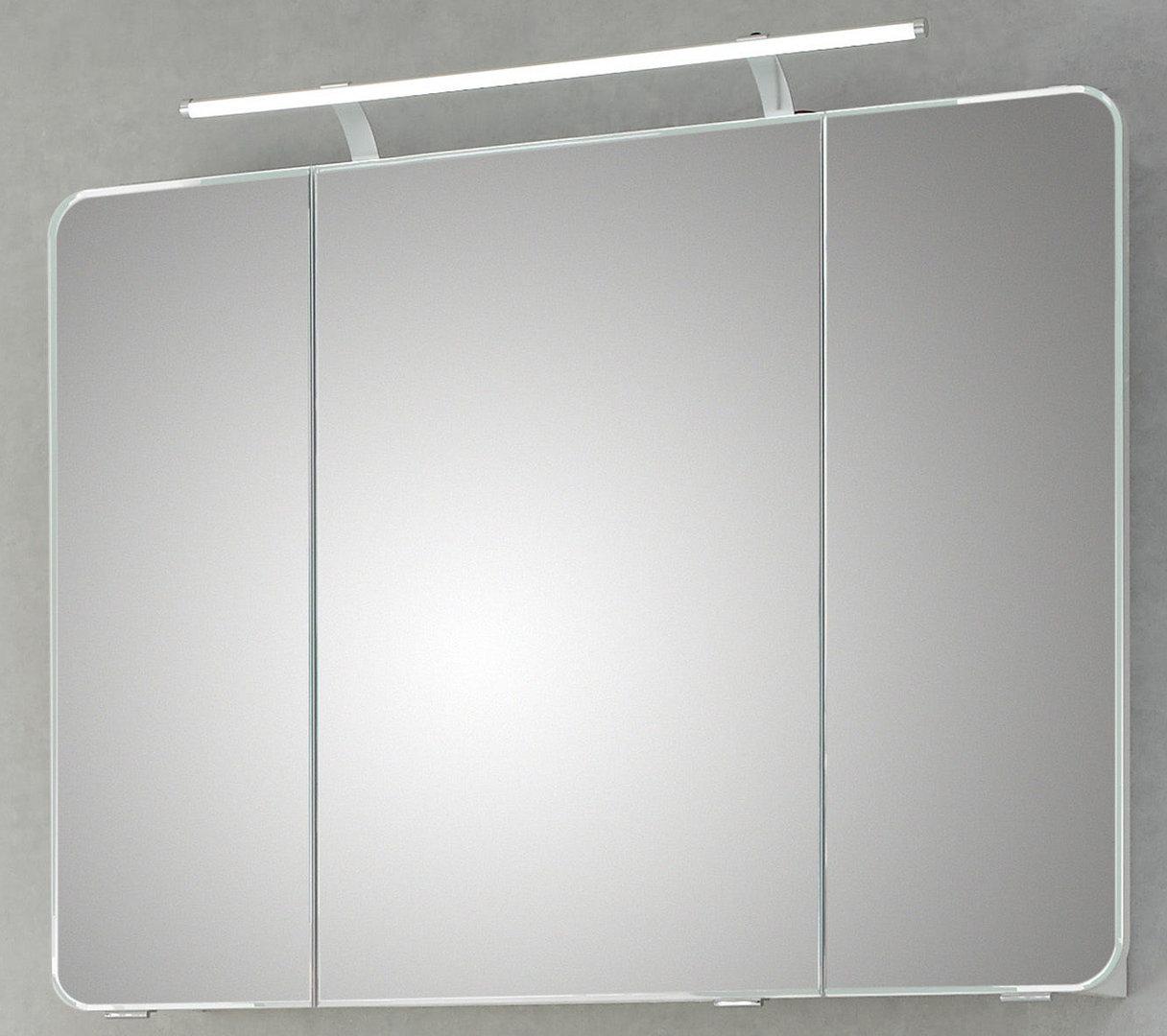 pelipal spiegelschrank focus 4005 led wei hochglanz 90x72 cm. Black Bedroom Furniture Sets. Home Design Ideas