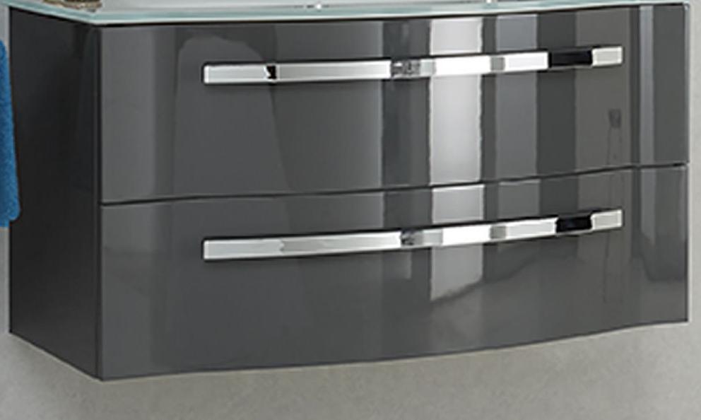pelipal focus 4005 waschbeckenunterschrank grau hochglanz b 90cm. Black Bedroom Furniture Sets. Home Design Ideas