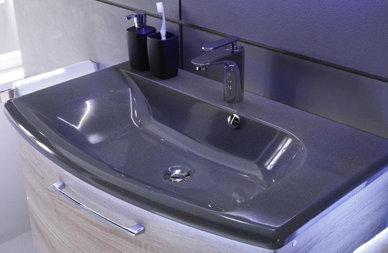 Pelipal Solitaire 7005 Mineralmarmor Waschtisch Grau 123 6 Cm