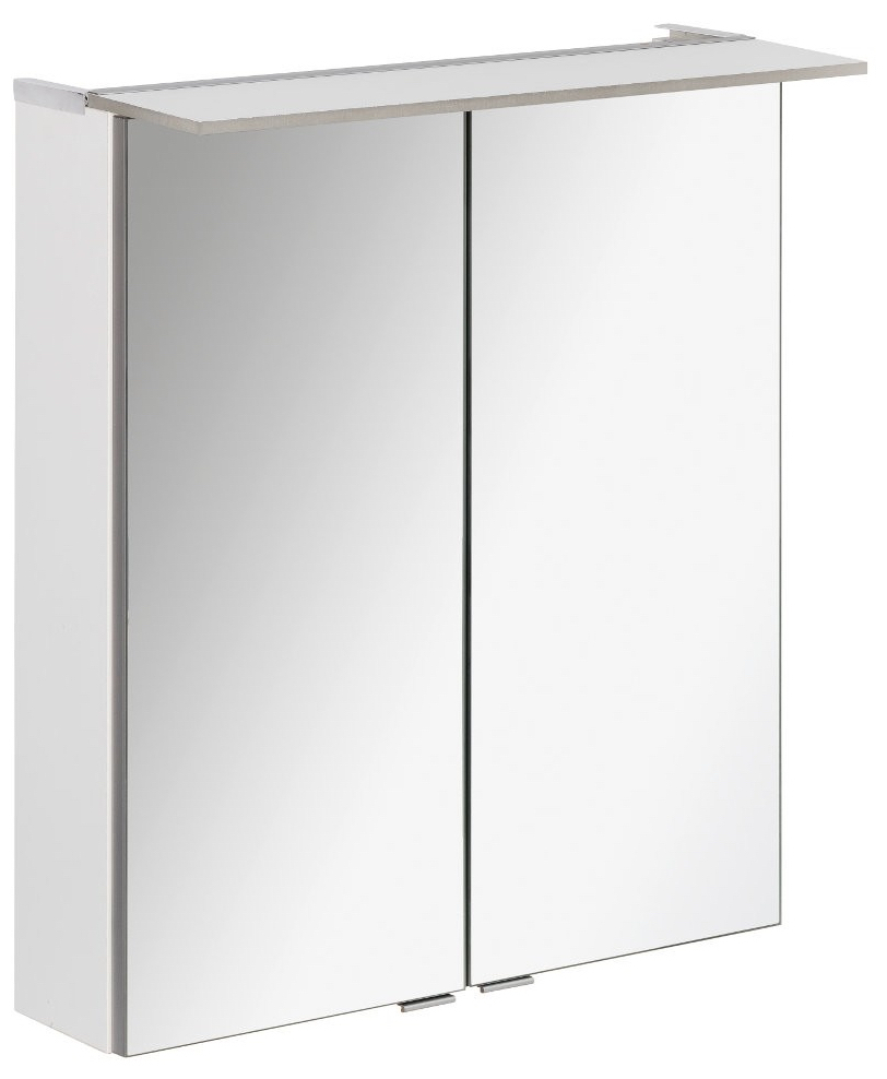 fackelmann led spiegelschrank 6 2 watt 60 cm wei. Black Bedroom Furniture Sets. Home Design Ideas