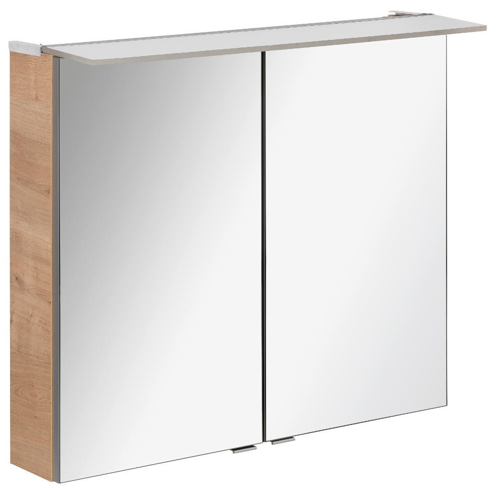 fackelmann led spiegelschrank 6 2 watt 80 cm ast eiche. Black Bedroom Furniture Sets. Home Design Ideas