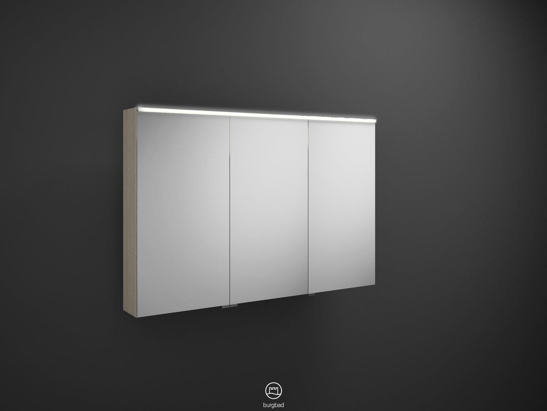 burgbad eqio spiegelschrank mit led beleuchtung farbe w hlbar 120. Black Bedroom Furniture Sets. Home Design Ideas