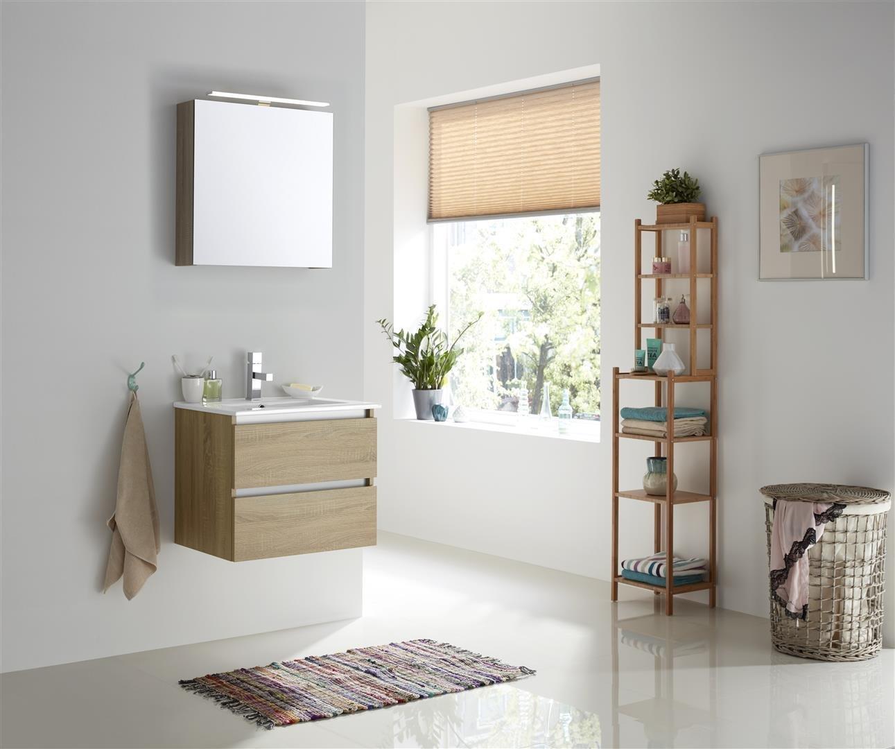Thebalux Typ1 Badezimmer-Möbel 61cm Spiegel/Schrank/Waschtisch/Farbe wählbar