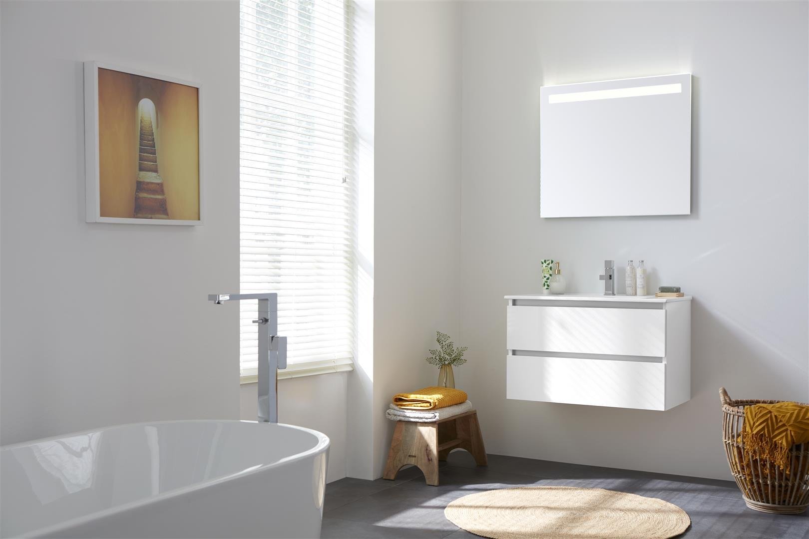 Thebalux Typ2 Badezimmer-Möbel 101cm Spiegel/Schrank/Waschtisch/Farbe  wählbar