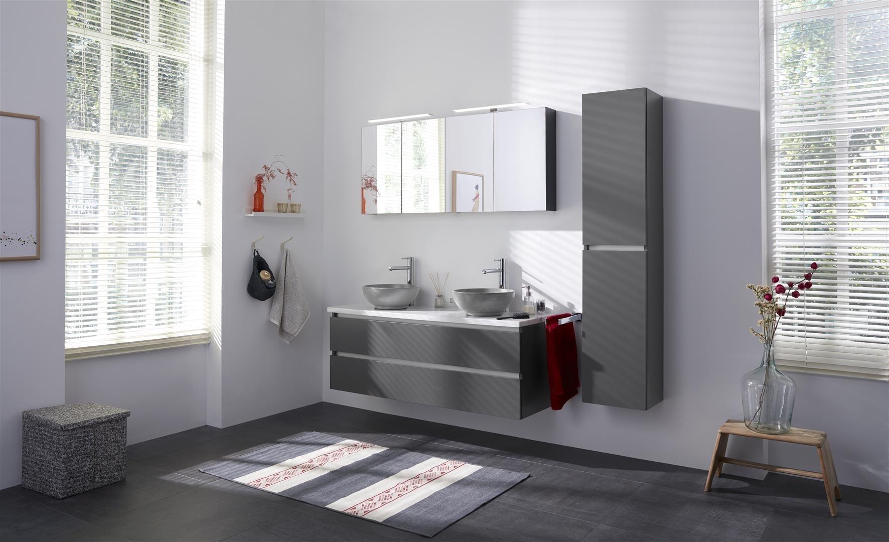 Thebalux Typ5 Badezimmer-Möbel 141cm Spiegel/Schrank/Waschtisch/Farbe  wählbar