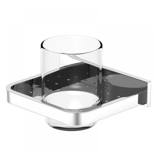 Steinberg Serie 450.2000 Glashalter mit Glas aus Messing, Chrom