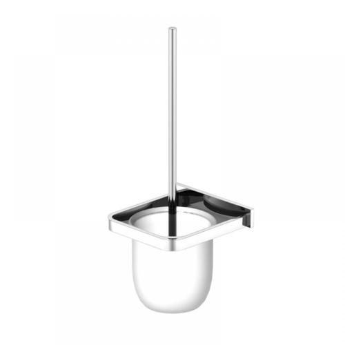 Steinberg Serie 450.2901 Bürstengarnitur mit Glas aus Messing, satiniert, Chrom