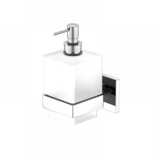 Steinberg Serie 450.8000 Wand-Seifenhalter mit Glas satiniert weiß, chrom