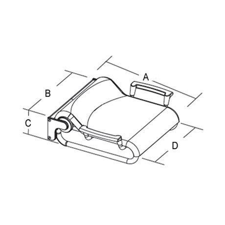 Coram proMed Serie 400 Duschklappsitz mit Stützlehnen Farbe weiss/chrom