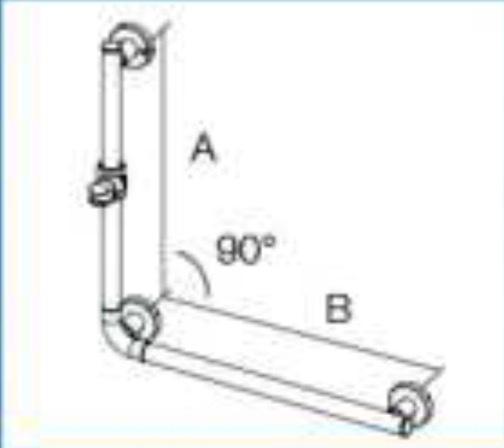 coram promed serie 400 haltegriff 90 brausehalter 800x600 mm bef. Black Bedroom Furniture Sets. Home Design Ideas