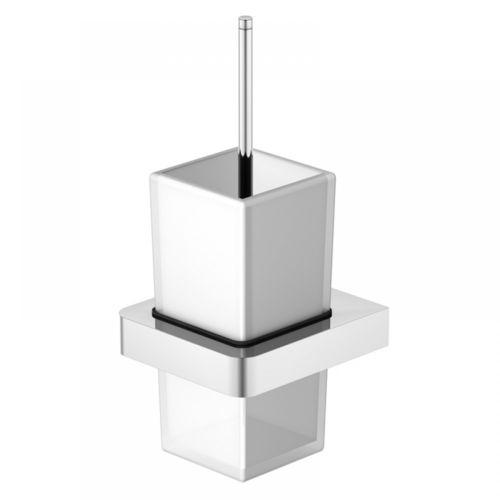 Steinberg Serie 420.2901 Bürstengarnitur mit Glas satiniert weiss, Chrom