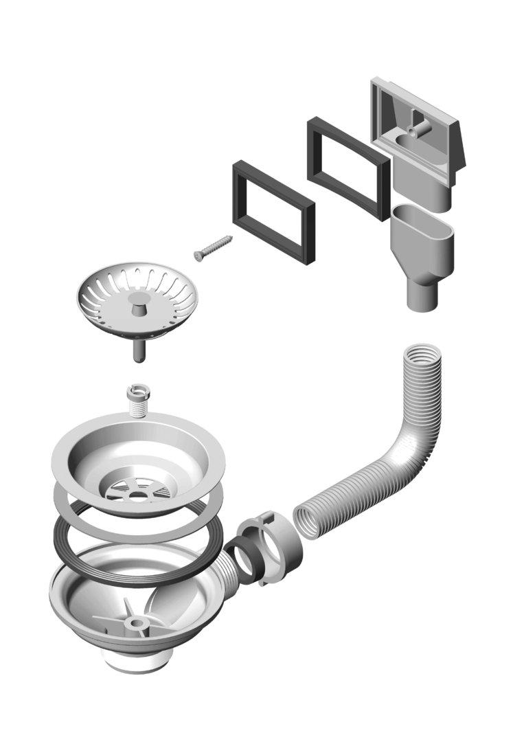 Beliebt Ablaufgarnitur Überlauf Sifon Alveus Ventil 114 1033155 GT42